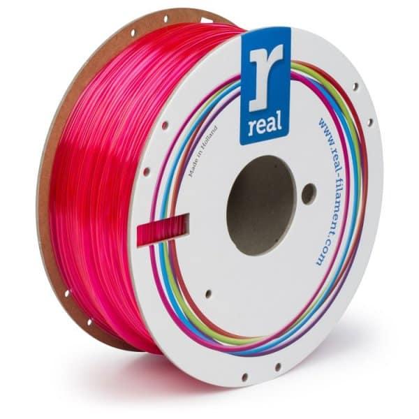 Real PETG filament | Transparentný magenta | 1.75 1kg