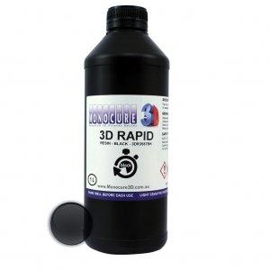 Čierny Rapid Resin Živica do DLP 3D tlačiarňe Monocure3D