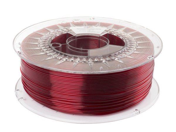 PETG filament | Transparentný červený | Spectrum filaments 1.75 1kg