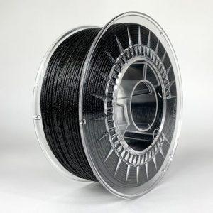 PETG filament | Galaxy trblietavý Čierny | Devil Design 1.75 1kg